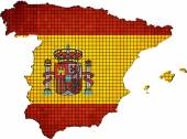 Spain map grunge mosaic — Stock Vector