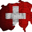 Switzerland map grunge mosaic — Stock Vector #51840929