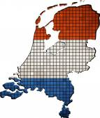 Netherlands map grunge mosaic — Stock Vector