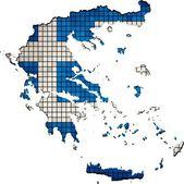 Greece map grunge mosaic — Stock Vector