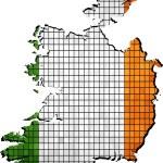 Постер, плакат: Ireland map grunge mosaic