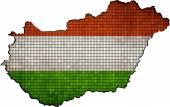 Hungary map grunge mosaic — Stock Vector