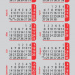 Pocket calendar 2015 — Stock Vector #59157167