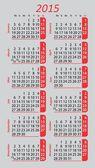 Pocket calendar 2015 — Vettoriale Stock