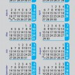 Pocket calendar 2015 on gray background — Stock Vector #59371647