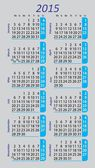 Pocket calendar 2015 on gray background — Vettoriale Stock