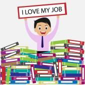 I love my job concept — Stock Vector