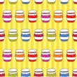Colorful jars with jam in doodle style — Stock Vector #57988931