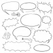 Set comics bubbles — Stock Vector #57990517