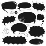 Set comics bubbles — Stock Vector #57990543