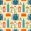 Seamless pattern with landmarks of United Kingdom — Stock Vector #57991099