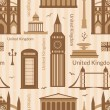 Seamless pattern with landmarks of United Kingdom — Stock Vector #57991105