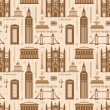 Seamless pattern with landmarks of United Kingdom — Stock Vector #57992315