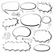 Set comics bubbles — Stock Vector #57992367