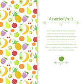 Fruit background with place for text — Stock Vector