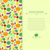 Vegetables background with place for text — Stock Vector