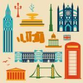 Landmarks of United Kingdom — Stock Vector