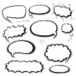 Set comics bubbles — Stock Vector #58014009