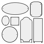 Set of mirrors of different shapes — Vector de stock