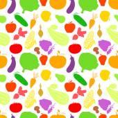 野菜のシームレスなパターン — ストックベクタ