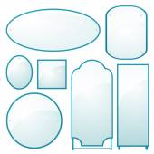 Set of mirrors of different shapes — Stok Vektör