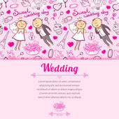 Wedding illustration in cartoon style — Vecteur
