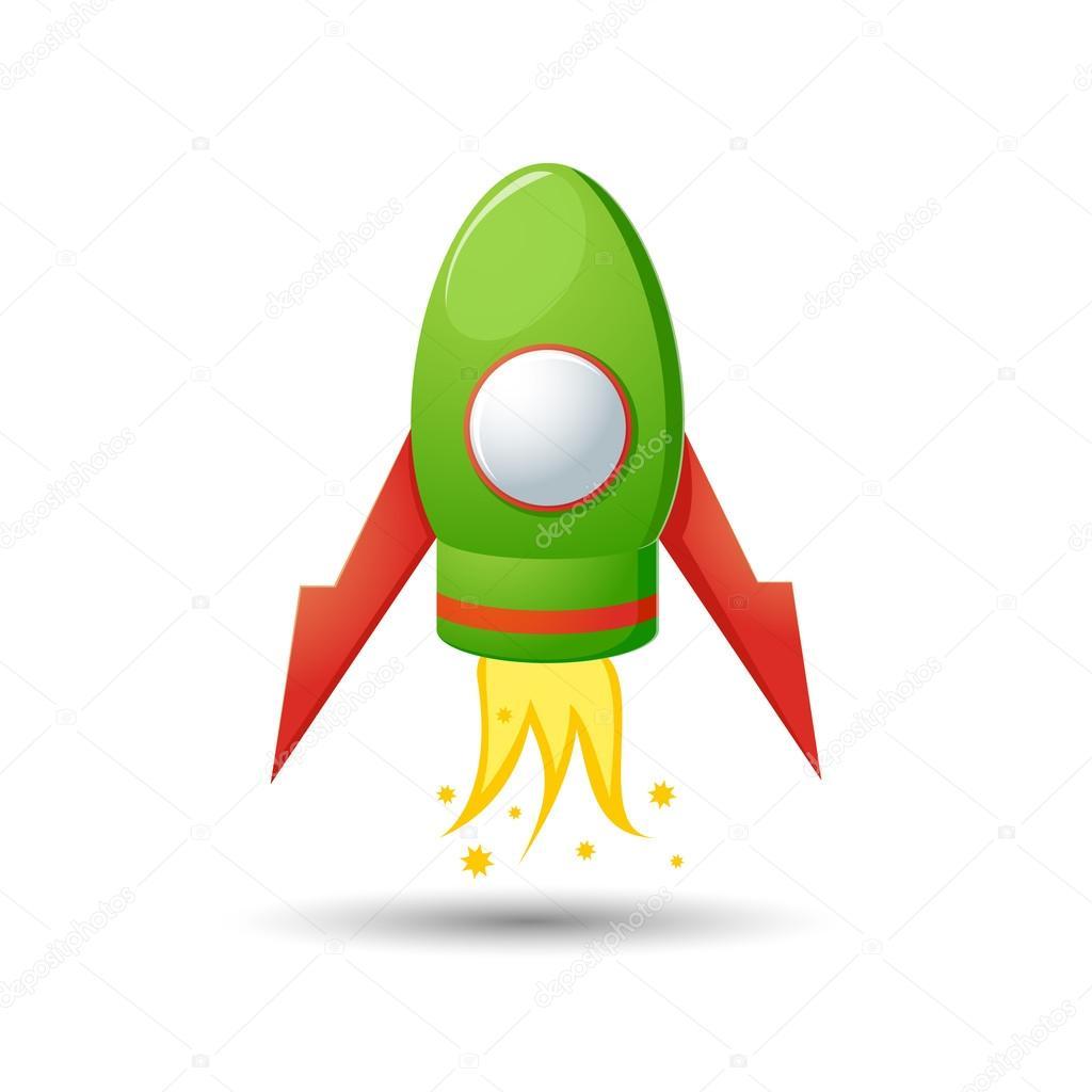 卡通火箭图 — 图库矢量图像08