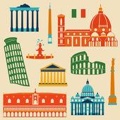 Památky z Itálie sada — Stock vektor