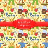 Farm elements in doodle style — Stock Vector