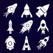 Rockets icons set — Stock Vector
