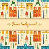 Landmarks of France colorful seamless pattern — Stock Vector
