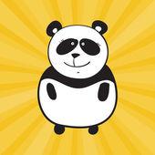 Panda de sonrisa Vector — Vector de stock