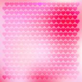 Romantic background with hearts — Stock Vector