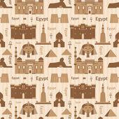 Landmarks of Egypt seamless pattern — ストックベクタ