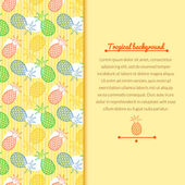 Pineapple background with space for text — Stock Vector