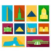 Landmarks of Egypt — Stok Vektör