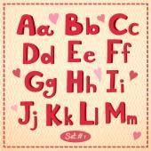 Alphabet in retro style — Wektor stockowy
