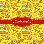 Vector cheerful background with children — Stock Vector