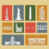 Landmarks of United States of America — Stock Vector