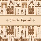 Landmarks of France colorful seamless pattern — Wektor stockowy