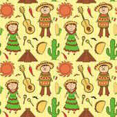 Mexicaanse cultuur naadloze patroon — Stockvector