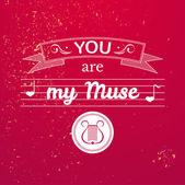 Valentine's Day typography — Stock Vector