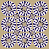 Spin Circles (Illusion). — Stock Vector