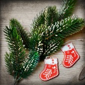 Christmas tree decorations — Fotografia Stock