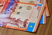 Money of Kazakhstan tenge — Stock Photo