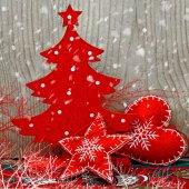 Kerstboom en decorations — Stockfoto