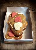 Sweet cookies hearts — Stock Photo