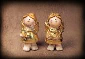 Two angels statuettes — Stock Photo