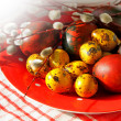 Easter  eggs and willow branches — Stock Photo #68311149