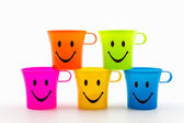 Colorful of smiley cup. — 图库照片